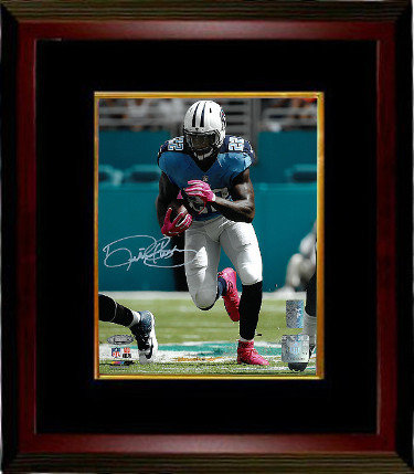 Derrick Henry Autographed Signed Tennessee Titans 8x10 Photo Custom Deluxe Framed blue jersey-white sig- Henry & Tri-Star Holograms - Certified Authentic