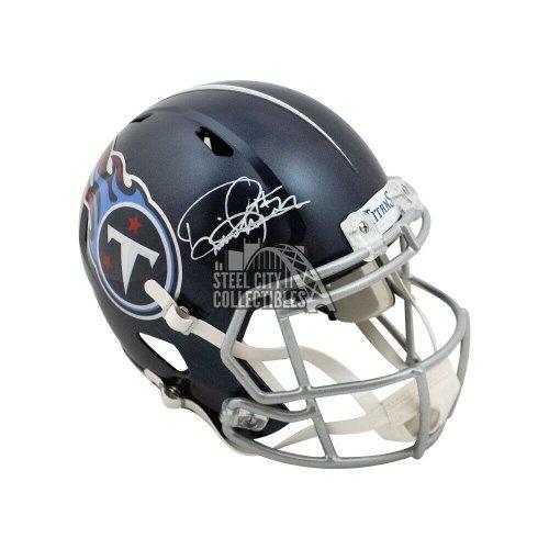 Derrick Henry Autographed Signed Titans Speed Replica Full-Size Football Helmet Beckett COA
