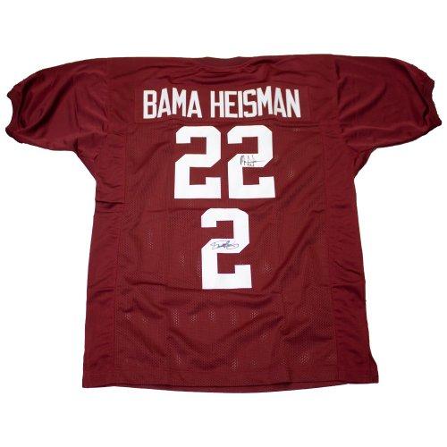 Derrick Henry & Mark Ingram Bama Heisman Autographed Signed Alabama Crimson Tide Custom Jersey - Certified Authentic