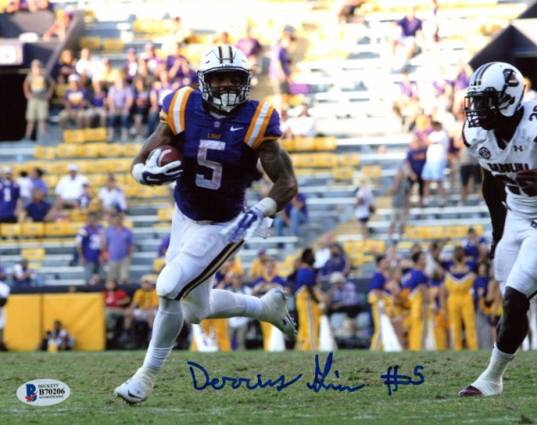 ab582de6b Derrius Guice LSU Tigers Autographed Signed 8x10 Photo - Beckett  Authentication