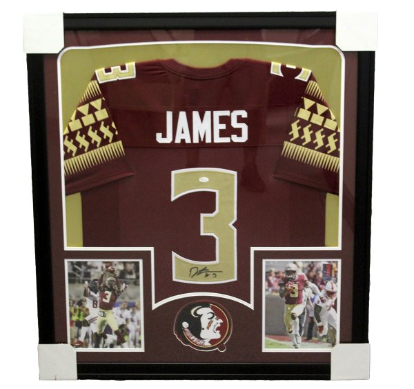 6ba353c9 Derwin James Autographed Signed Florida State Seminoles Framed Garnet Jersey  - PSA/DNA Certified Authentic
