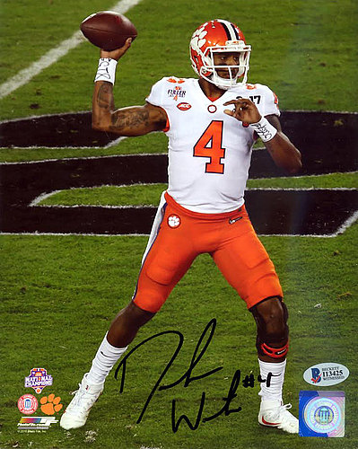 DeShaun Watson Autographed Signed 8x10 Photo Clemson Tigers - Beckett  Authentication 6a06f6313