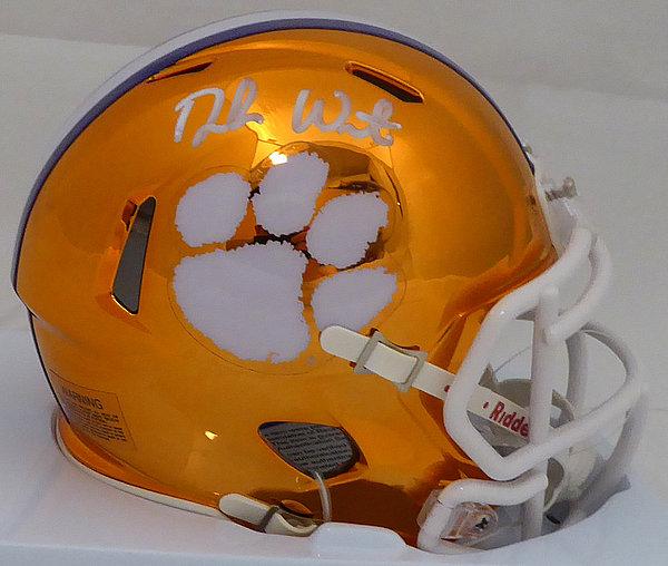 Deshaun Watson Autographed Signed Clemson Tigers Orange Chrome Speed Mini  Helmet - Beckett Authentic b616759f2