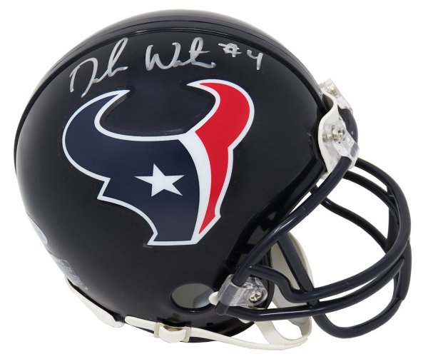 Deshaun Watson Autographed Signed Houston Texans Riddell Mini Helmet (Beckett)