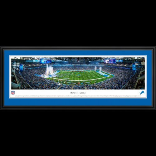 Detroit Lions Deluxe Framed Stadium Panoramic