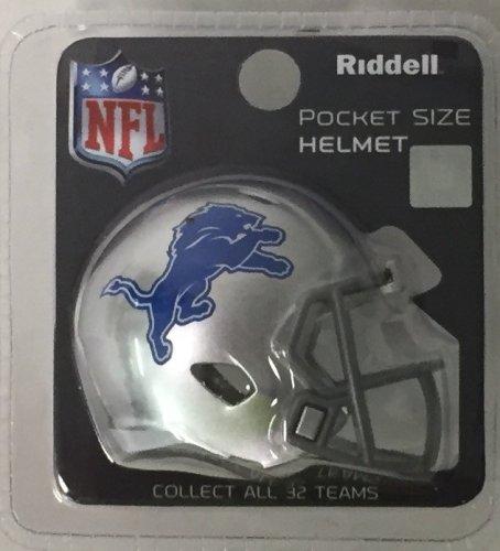 Detroit Lions Riddell Pocket Pro Football Helmet