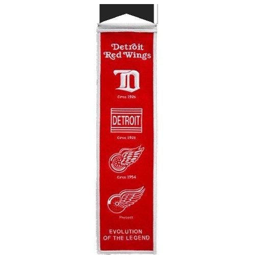 Detroit Red Wings Logo Evolution Heritage Banner