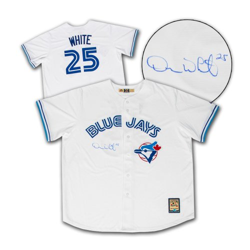 f708faaeb Devon White Toronto Blue Jays Autographed Signed World Series Era Retro  Baseball Jersey - Certified Authentic