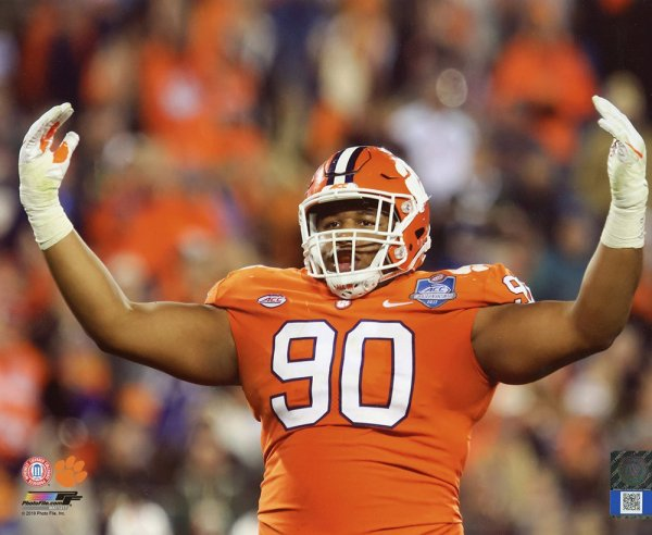 Dexter Lawrence Unsigned Licensed 8x10 Photo Clemson Tigers