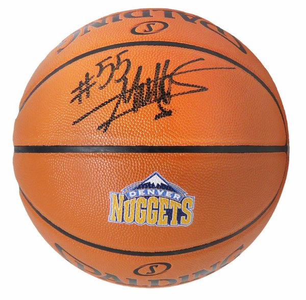 Dikembe Mutombo Autographed Signed Spalding Denver Nuggets Logo Game Series Replica NBA Basketball