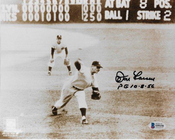 Don Larsen Yogi Berra 3 more Autographed New York Yankees Topps Fan Favorites