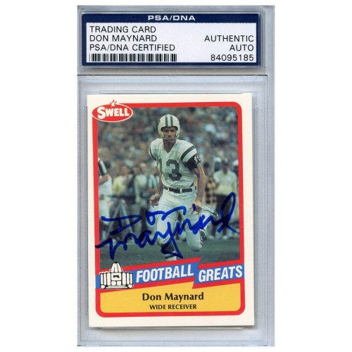 a15750c52 Don Maynard Autographed Signed Football Trading Card New York Jets PSA DNA   84095185