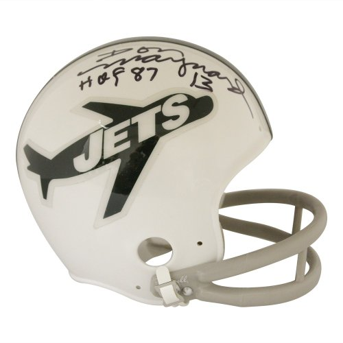 premium selection 5f701 01dc3 Don Maynard Autographed Signed New York Jets Throwback Mini ...