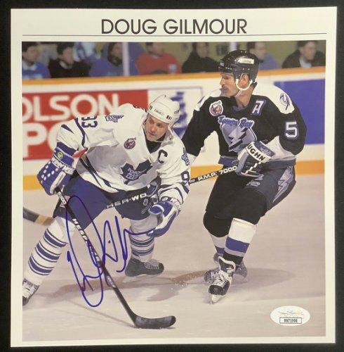 Doug Gilmour Chicago Blackhawks Signed Autograph Model Puck with HOF Inscription