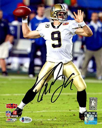 046cc024b2f Drew Brees Autographed Signed 8x10 Photo New Orleans Saints SB XLIV -  Beckett Authentic