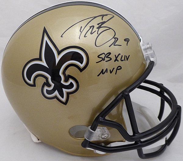Drew Brees Autographed Signed Auto New Orleans Saints Full Size Replica  Helmet SB XLIV MVP - c03fb6f8b