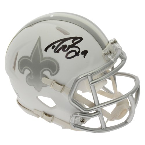 c37d8b728e2 Drew Brees Autographed Signed New Orleans Saints Alternate ICE Speed Mini  Helmet - PSA/DNA