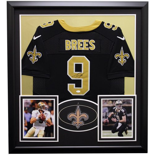 dc33b8932 Drew Brees New Orleans Saints Framed Autographed Signed Jersey - JSA  Authentic