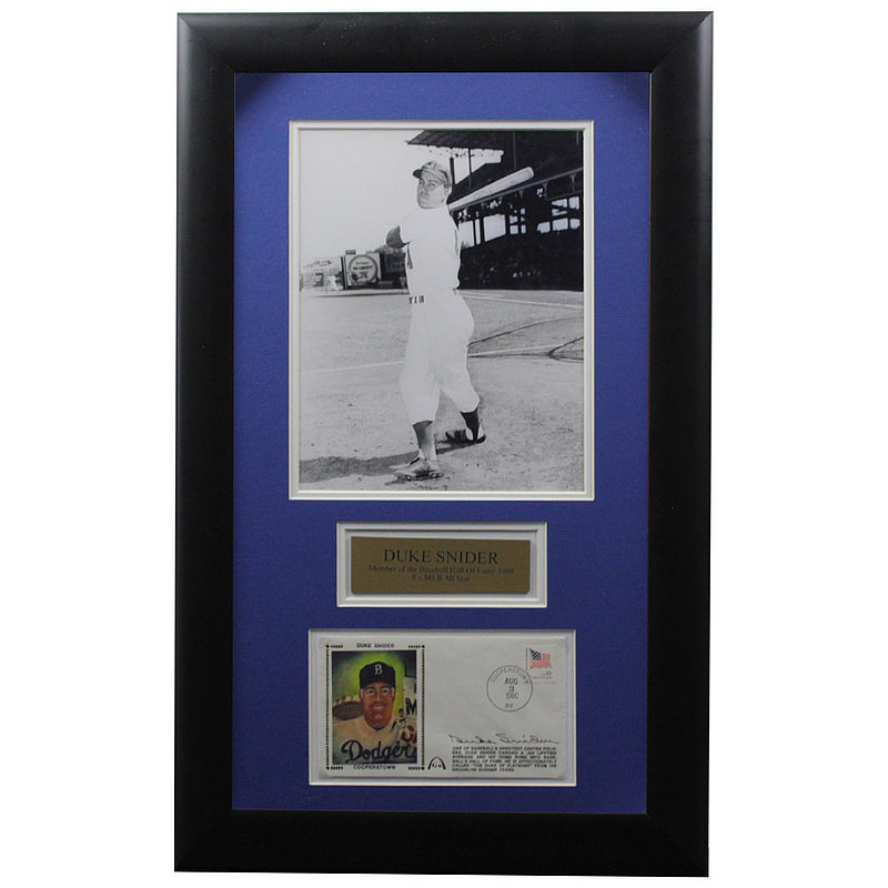 Duke Snider Autographed Signed Framed First Day Cover - Certified Authentic