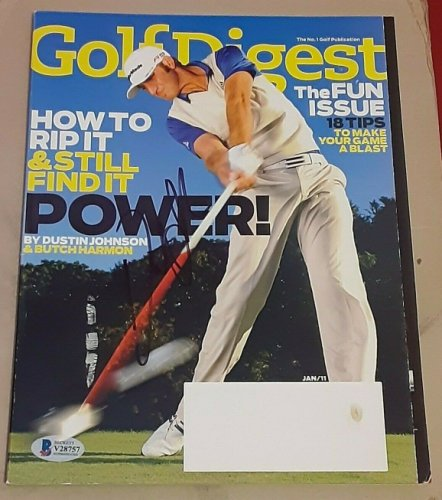 Dustin Johnson Autographed Signed 2020 Masters Champion Golf Digest Magazine Beckett V28757