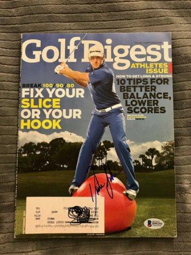 Dustin Johnson Autographed Signed Golf Digest Magazine Beckett COA