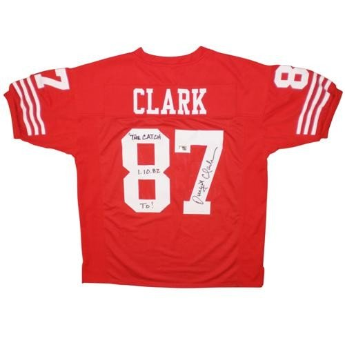 2f0fae51a Dwight Clark Autographed Signed Auto San Francisco 49ers Red #87 Custom  Jersey The Catch 1