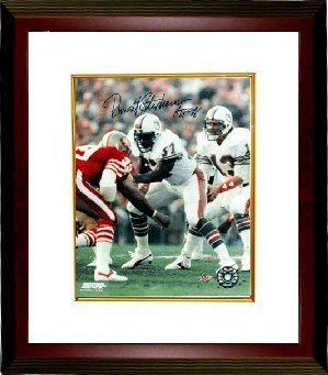 Dwight Stephenson Autographed Signed Miami Dolphins 8x10 Deluxe Framed Photo HOF 98 - Certified Authentic