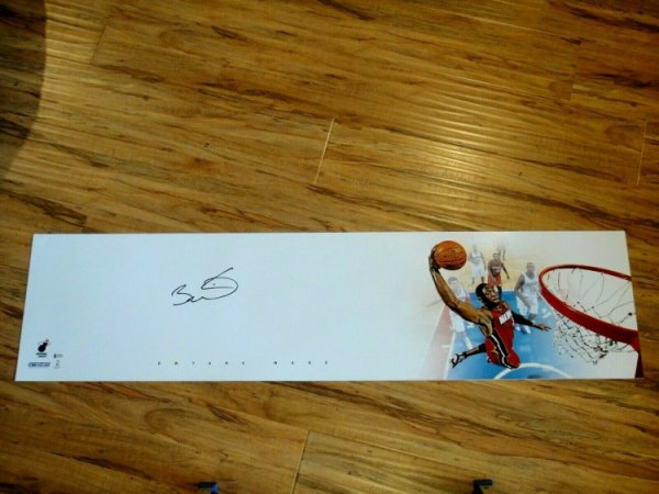 Dwyane Wade Autographed Signed 4X1 Foot Large Photograph Beckett (Beckett) Certified Autographed
