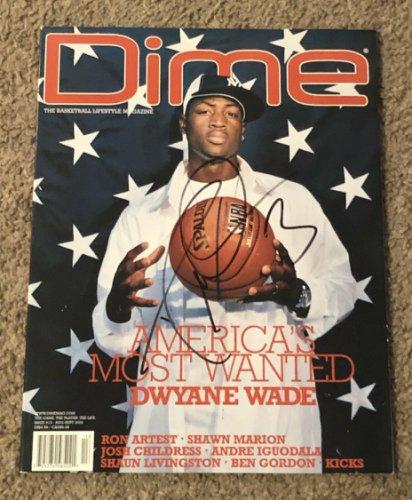 Dwyane Wade Autographed Signed Autographed 2004 Dime Basketball Magazine Heat JSA Certified