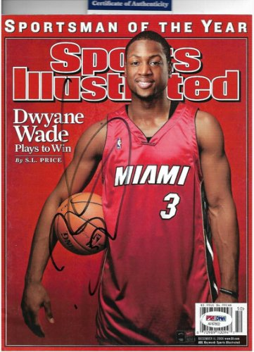 Dwyane Wade Autographed Signed Autographed Sports Illustrated Miami Heat D-Wade With COA PSA