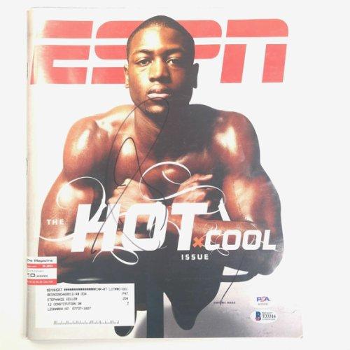Dwyane Wade Autographed Signed Espn Magazine PSA/DNA Beckett Beckett Miami Heat Autographed