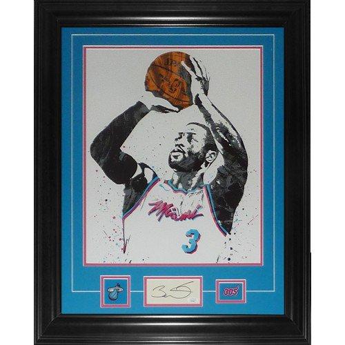 Dwyane Wade Autographed Signed Miami Heat 11X14 Artwork Deluxe Framed Piece - JSA