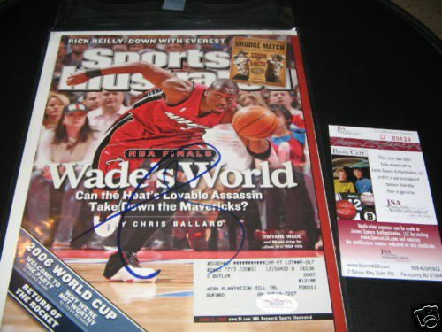 Dwyane Wade Autographed Signed Miami Heat,3X Champs JSA/COA Sports Illustrated