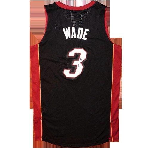 Dwyane Wade Autographed Signed Miami Heat (Black #3) Jersey - JSA