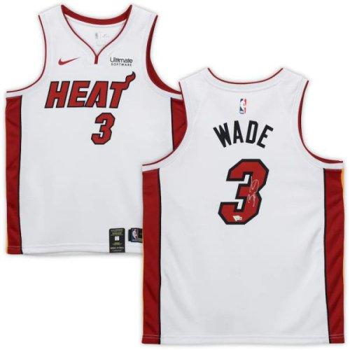 Dwyane Wade Autographed Signed Miami Heat (White #3) Swingman Jersey - Fanatics