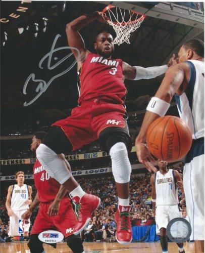 Dwyane Wade Autographed Signed PSA/DNA 8X10 Photograph, Miami Heat Autographed Dunk