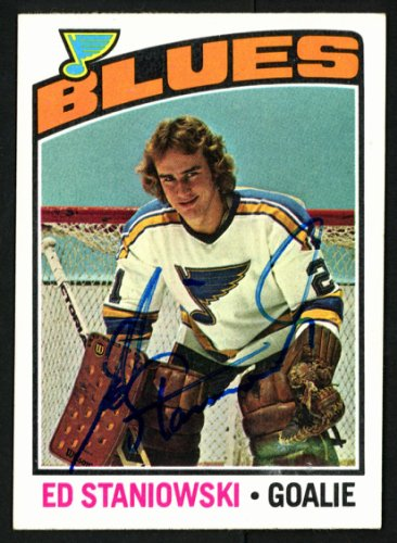 Ed Staniowski Autographed Signed Memorabilia 1976 -77 Topps Rookie Card #104 St. Louis Blues 150182 - Certified Authentic