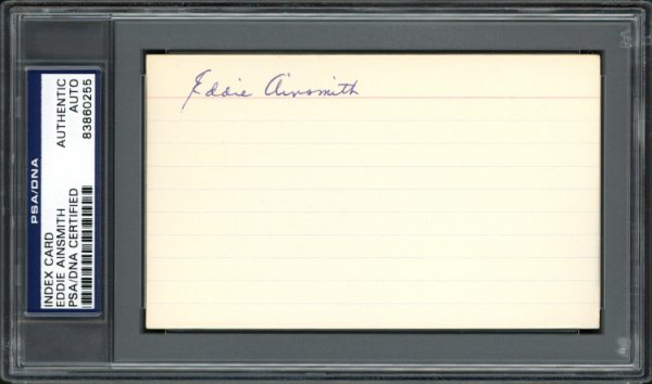 Eddie Ainsmith Autographed Signed 3x5 Index Card Washington Senators PSA/DNA #83860255