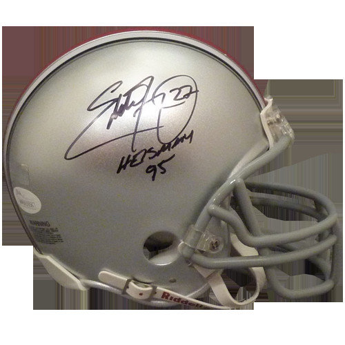 ebb8d41e800 Eddie George Autographed Signed Auto Ohio State Buckeyes Mini Helmet  Heisman 95 - Certified Authentic