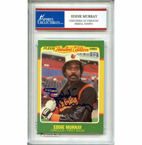 Eddie Murray Autographed Signed Baseball Trading Card Baltimore