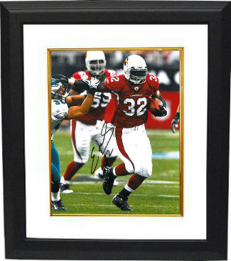 Edgerrin James Autographed Signed Arizona Cardinals 8x10 Deluxe Framed Photo - Certified Authentic