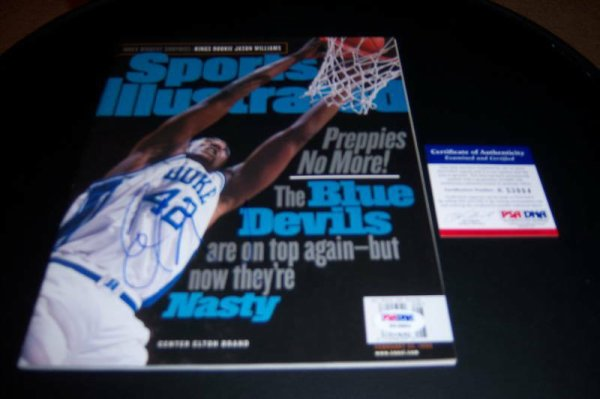 Elton Brand Autographed Signed Duke PSA/DNA Sports Illustrated