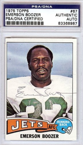 Emerson Boozer Autographed Signed 1975 Topps Card - PSA/DNA Certified