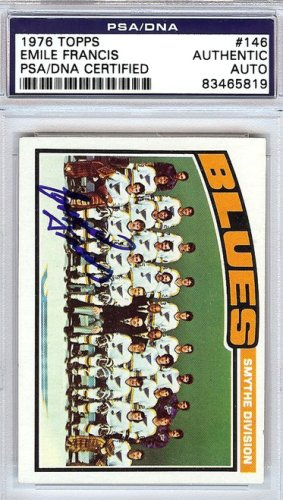 Emile Cat Francis Autographed Signed 1976 Topps Card #146 - PSA/DNA Certified