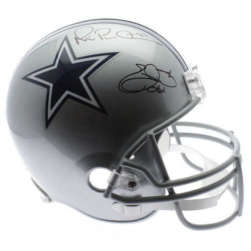 f190781fed3 Emmitt Smith and Michael Irvin Autographed Signed Dallas Cowboys Riddell  Full Size Replica Helmet - PSA/DNA Authentic 170
