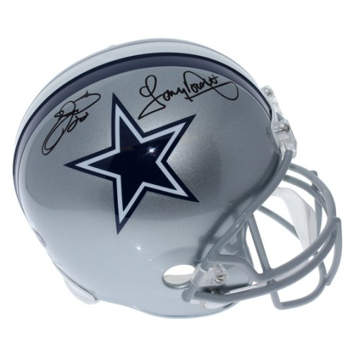 022993533 Emmitt Smith and Tony Dorsett Dallas Cowboys Autographed Signed Full Size  Replica Helmet - PSA