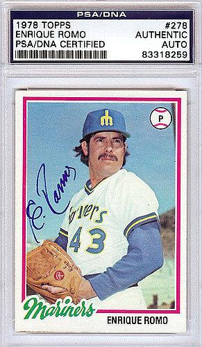 Enrique Romo Autographed Signed 1978 Topps Rookie Card Psa