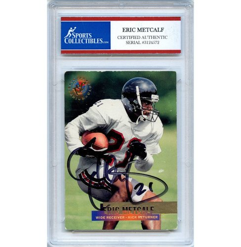 8ddf28ba1 Eric Metcalf Autographed Signed 1995 Topps Trading Card - Certified  Authentic