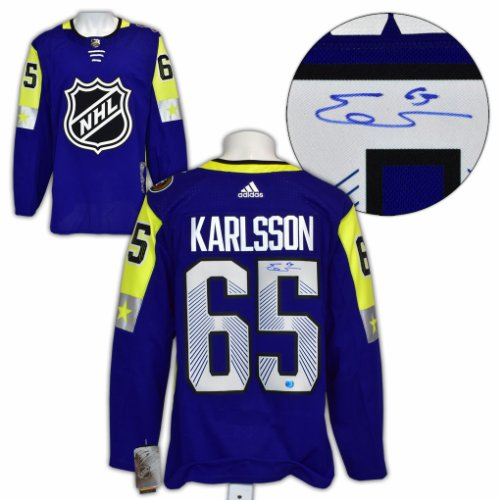 Erik Karlsson 2018 All Star Game Autographed Signed Adidas Authentic Hockey Jersey