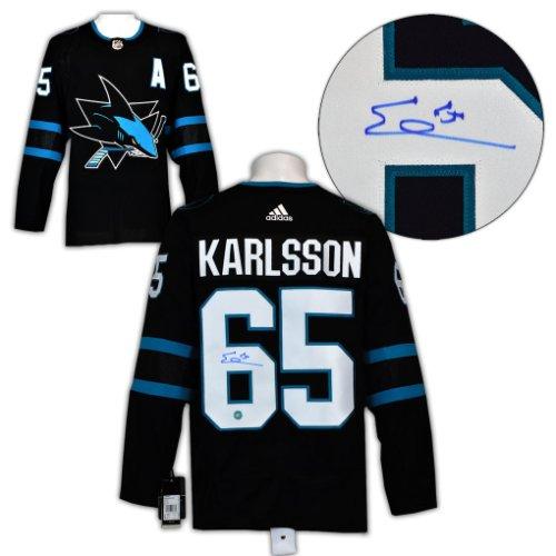 Erik Karlsson San Jose Sharks Autographed Signed Alternate Adidas Authentic Hockey Jersey